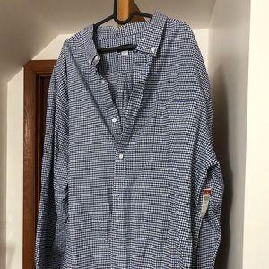 NWT 5XLT Checkered LS Button-Up Shirt